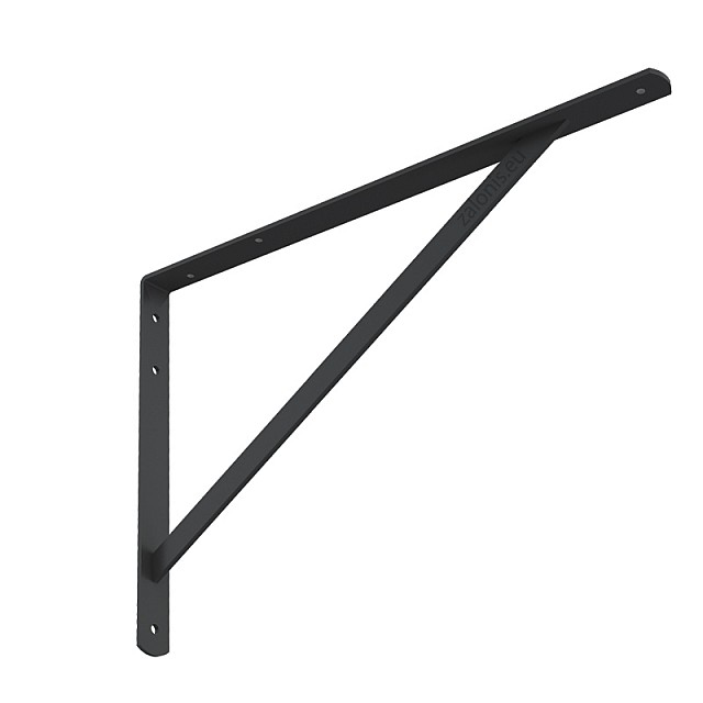 HEAVY DUTY SHELF BRACKET 500x325mm/185kg  BLACK